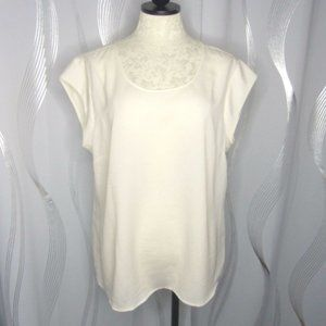NEW The Limited Sheer White Short Sleeve Top Sz XL